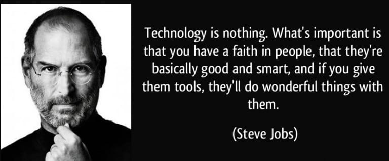 Technology is nothing without people.